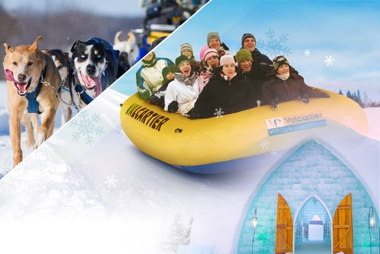 Dog Sledding & Ice Hotel & Valcartier 1 Day