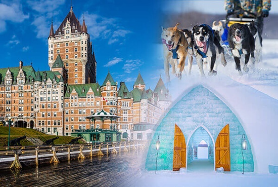 Quebec City Ice Hotel & Valcartier 2 Days