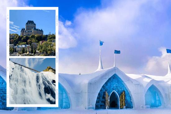 Ville de Québec & Hôtel de glace 1 Jour
